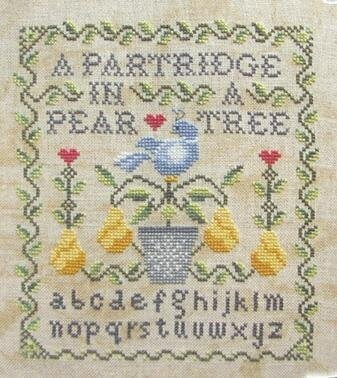 Partridge in a Pear Tree, A - Cross Stitch Pattern