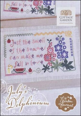 July's Delphinium - Cross Stitch Pattern