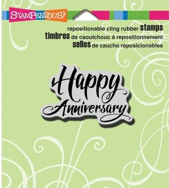 Penned Anniversary - Cling Rubber Stamp
