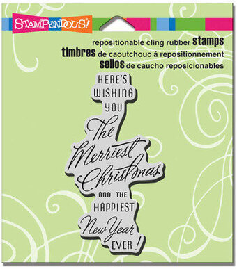 Merriest Wish (Christmas) - Cling Rubber Stamp