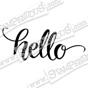 Big Brush Hello - Cling Rubber Stamp
