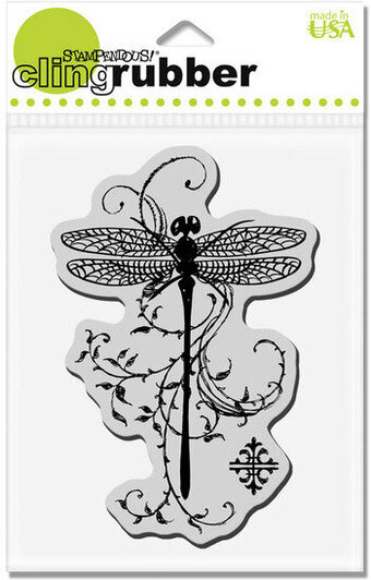 Dragonfly Vine - Cling Rubber Stamp