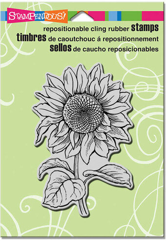 Sweet Sunflower - Cling Rubber Stamp