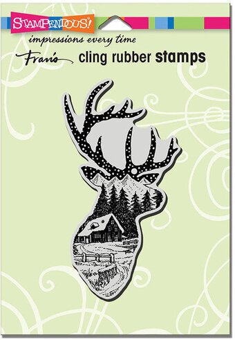 Buck Scene - Cling Rubber Stamp