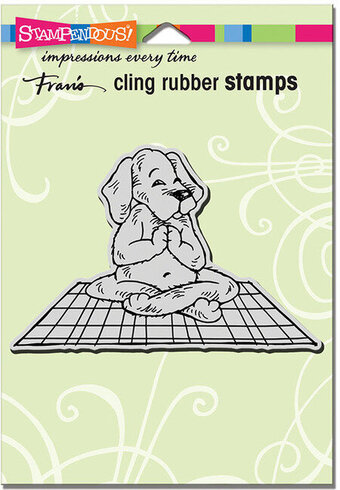 Yoga Dog - Cling Rubber Stamp