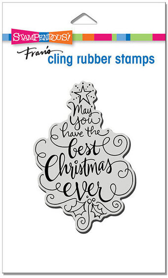 Best Christmas - Christmas Cling Rubber Stamp