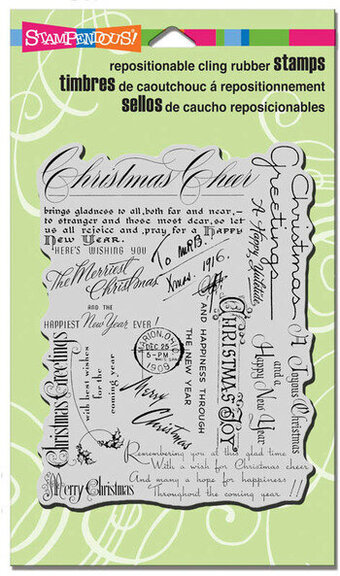 Christmas Background - Cling Rubber Stamp