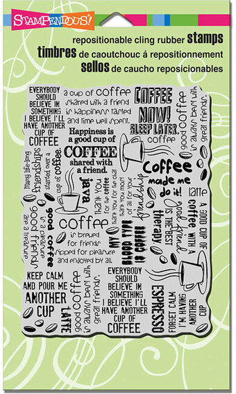Coffee Background - Cling Rubber Stamp