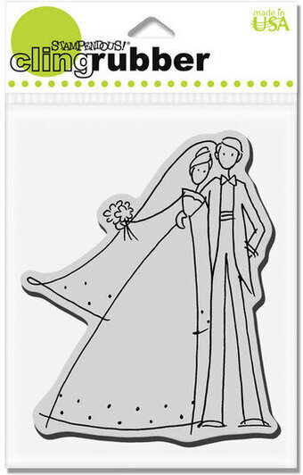 Happy Couple - Cling Rubber Stamp