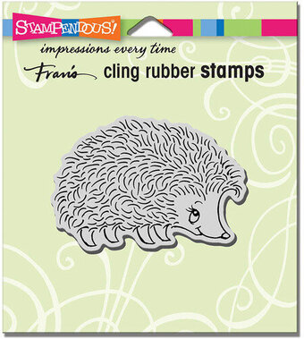 Happy Hedgehog - Cling Rubber Stamp