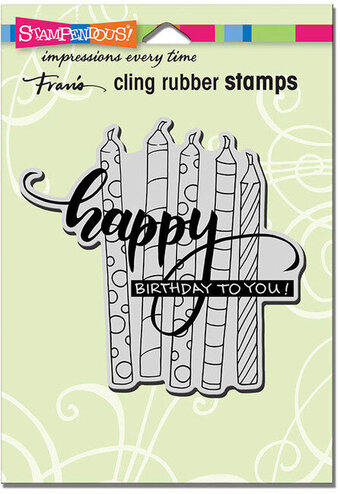 Candle Wish - Cling Rubber Stamp
