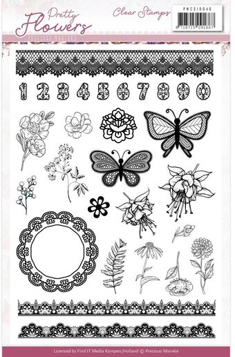 Pretty Flowers - Clear Stamp