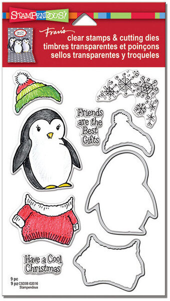 Cool Penguin Christmas Clear Stamps and Cutting Dies