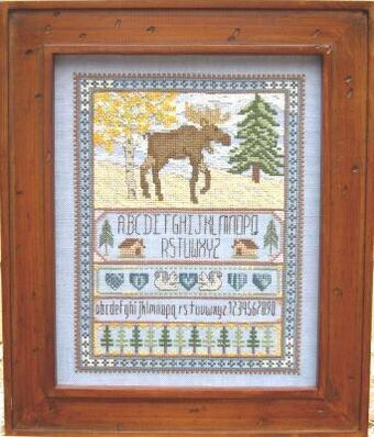 Moose Sampler - Cross Stitch Pattern