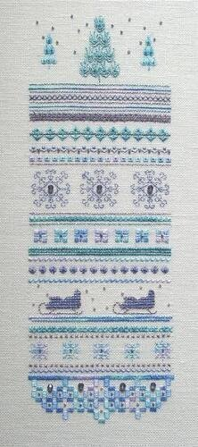 Winter Ice Sampler - Cross Stitch Pattern