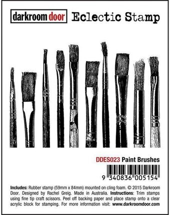 Paint Brushes - Cling Rubber Stamp
