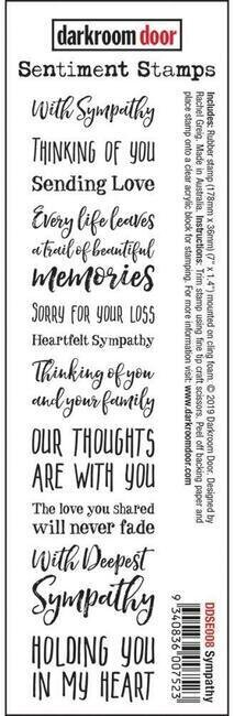 Sympathy Sentiments - Cling Rubber Stamp