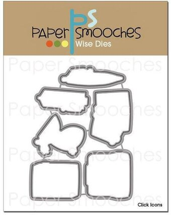 Paper Smooches Click Icons Dies