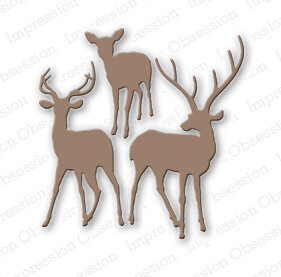 Impression Obsession Deer Trio Die Set
