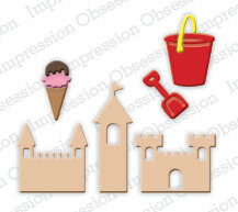 Impression Obsession Mini Beach Fun Die Set