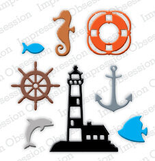 Impression Obsession Mini Nautical Die Set