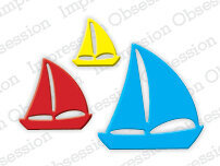Impression Obsession Sailboats Die Set