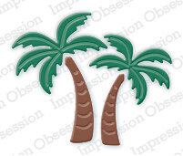 Impression Obsession Palm Trees Die Set