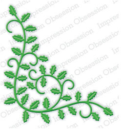 Impression Obsession Holly Flourish Christmas Die