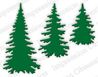 Impression Obsession Evergreen Trees Die
