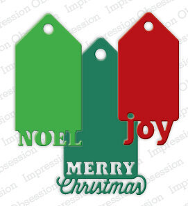 Impression Obsession Christmas Tags Die