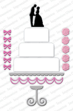 Impression Obsession Wedding Cake Die