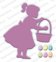 Impression Obsession Girl with Easter Basket Die