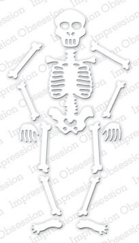 Impression Obsession Skeleton Halloween Die