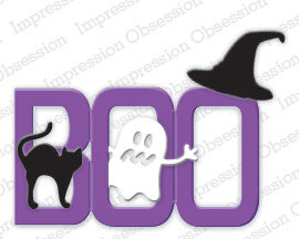Boo Halloween - Impression Obsession Craft Die