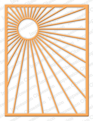 Impression Obsession Sunburst Background Die