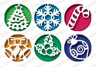 Christmas Circle Cutouts Craft Die