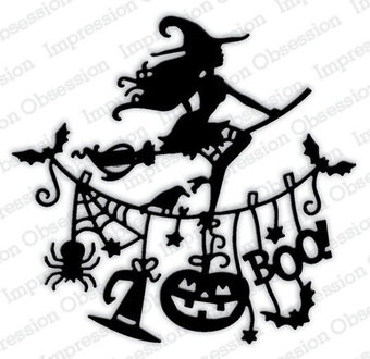 Impression Obsession Witch Line Halloween Die
