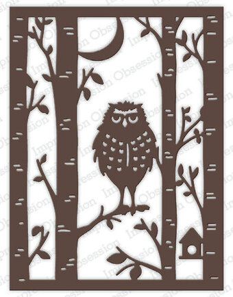 Owl Frame - Impression Obsession Craft Die