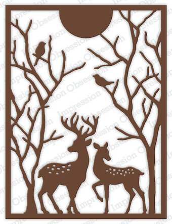 Spotted Deer Frame - Impression Obsession Craft Die