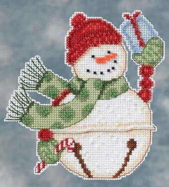 Freezy Snowbells (Debbie Mumm) - Beaded Cross Stitch Kit