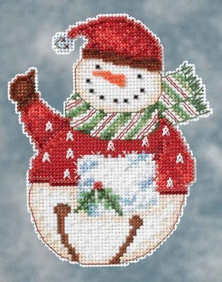 Flurry Snowbells (Debbie Mumm) - Beaded Cross Stitch Kit