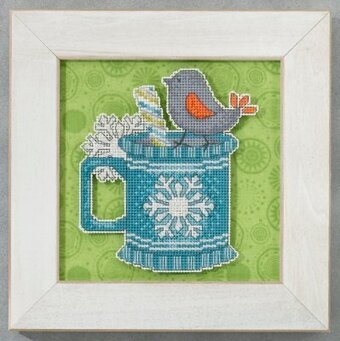Peppermint Tweet (Debbie Mumm) - Beaded Cross Stitch Kit