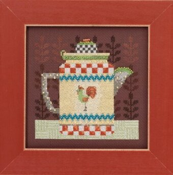 Coffee Pot - Beaded Cross Stitch Kit