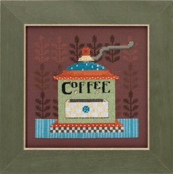 Coffee Grinder - Beaded Cross Stitch Kit