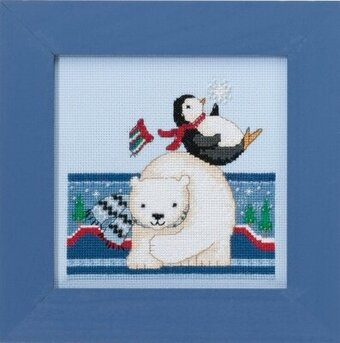 Polar Play - Beaded Cross Stitch Kit