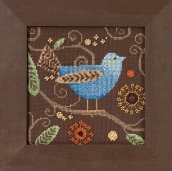 Blue Bird - Out on a Limb - Beaded Cross Stitch Kit