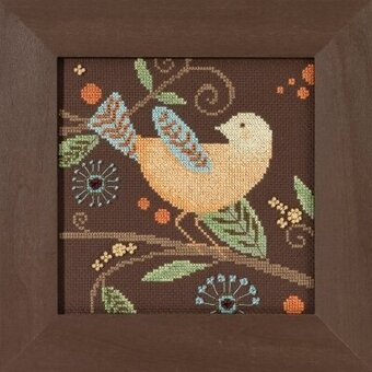 Yellow Bird - Out on a Limb - Beaded Cross Stitch Kit