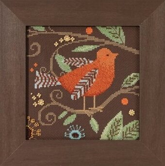Orange Bird - Out on a Limb - Beaded Cross Stitch Kit