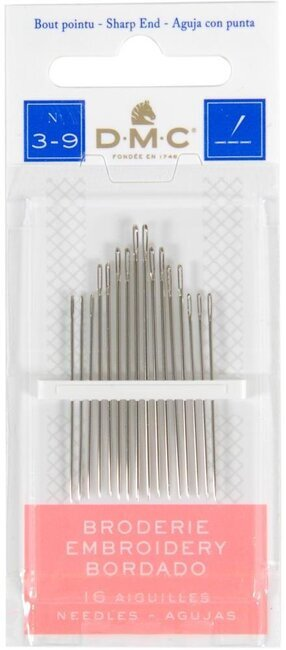 DMC Embroidery Hand Needles Sizes 3-9, 15 per package