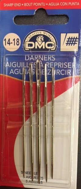 DMC Darners Hand Needles Sizes 14-18, 5 per package